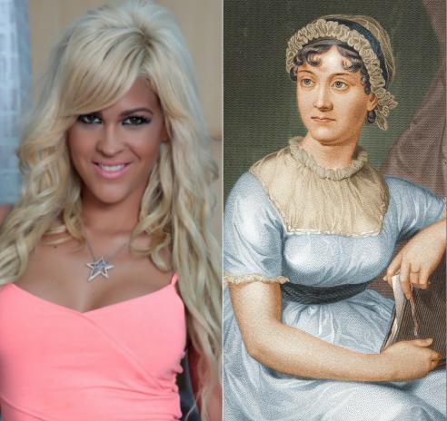 Jane Austen e Ylenia en Adriana Tejada. Escritora